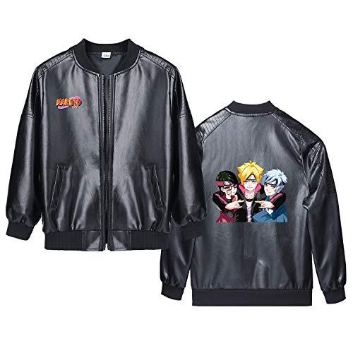 YiqiUime JoJo's Bizarre Adventure Camiseta Abrigo Cardigan Chaqueta Hermosa Personalizar Cuero de Ocio Flojo de Moda de los niños Unisex