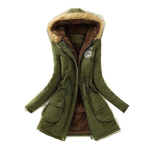 cappotto donna homebaby Homebaby Cappotto Donna Invernale Eleganti Parka Lunghi Trench Ragazza Giacca con Cappuccio Piumino Giubbotto Imbottito in Cotone Taglie Forti Outwear