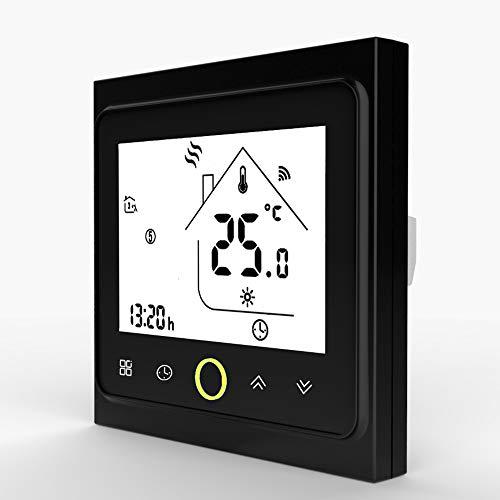 LYDUL WiFi Smart-Thermostaat temperatuur, digitale thermostaat, regelaar voor water/elektronische vloerverwarming water/gas boiler werken met Alexa Google-startpagina