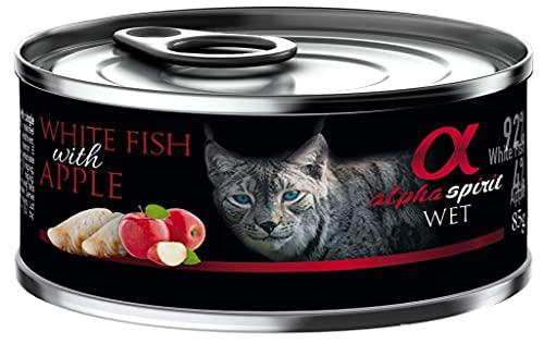 ALPHA Spirit Feline Adult Pescado Manzana Lata 18X85GR, Negro, Mediano