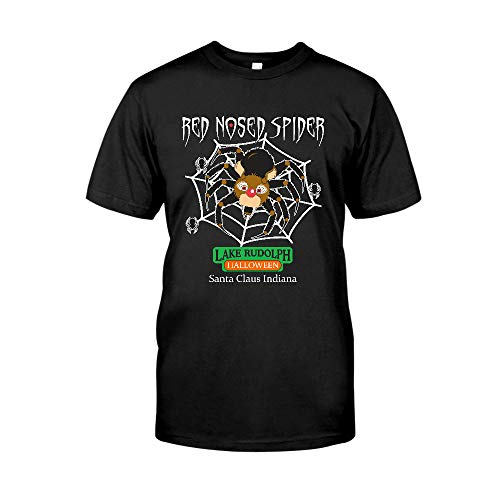 Red Nosed Spider Lake Rudolph Halloween Santa Claus Indiana T-Shirt T-Shirt