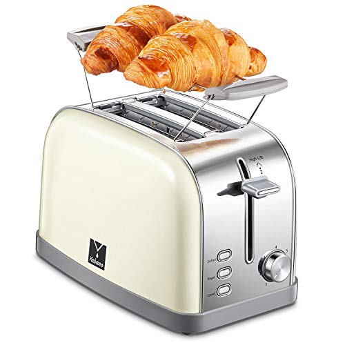 2 Slice Toaster with 7 Bread Shade Settings and Warming...