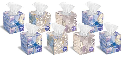 Kleenex Tissues Ultra Soft Cube Box 85 Count Each Family Pack of 8