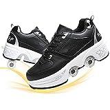 Patines 4 Ruedas Ajustable Roler Skate Patines En Paralelo Retro Quad Skate Patines para Niños Adolescentes Y Adultos Zapato De Mujer
