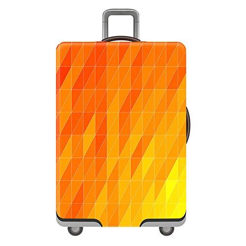 Elastisch Kofferhülle Kofferschutzhülle Gepäckabdeckung 18-32 Zoll Kofferschutzbezug Gepäckschutz Kofferbezug Luggage Cover Koffer Hülle Schutzbezug Gepäck Cover Reisekoffer Hülle Orange XL