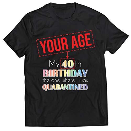lepni.me Camisetas Hombre Distanciamiento Social 2021 Regalo de Feliz Cumpleaños de Cuarentena Personalizado (5XL Negro Multicolor)