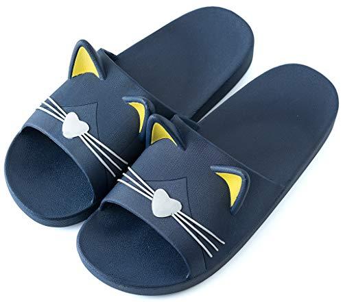 Saldgoiz Donna Uomo Infradito e Ciabatte da Spiaggia Ragazzi Ragazze Pantofole da Mare e Piscina Estive Sandali a Punta Aperta Blu(Cat) 43/44 EU/44-45CN