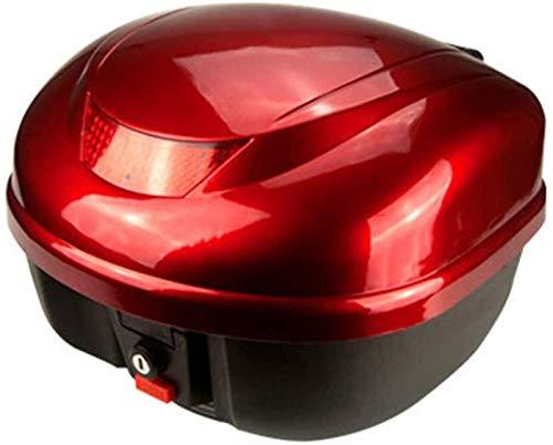 IWQTO Universal-Top-Box for Motorr? der, Helmaufbewahrungsbox for Motorr? der und Zubeh? R (Color : Red, Size : 33.5 * 24 * 25cm)