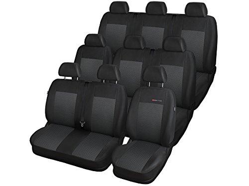T5 Sitzbezüge nach Maß perfekte Passform Schonbezüge Sitzschoner Velour + Strickpolster ®Auto-schmuck (T5 2+1,1+2,3 P-3)