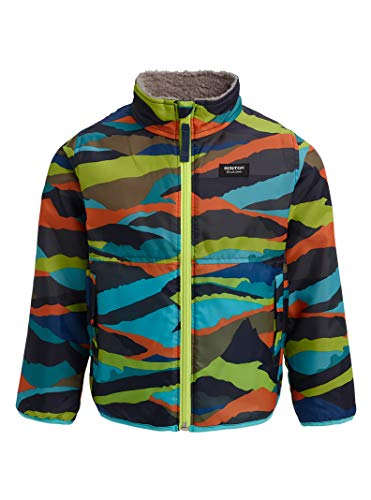 Burton Kids Snooktwo Reversible Jacket, Summit Stripe/Sterling, 4T
