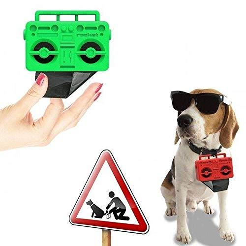 AC-Déco Distributeur de sac à déchets pour animaux - Rouge - Accessoire pour chien