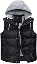 Wantdo Women's Insulated Puffer Vest Outwear with Removable Hood Black X-Large