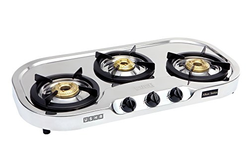 Usha Allure GS3 001 Cooktop (Stainless Steel and Black)