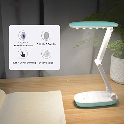 no-logo WAJklj Power Bank Schreibtischlampe Wiederaufladbare Tischlampe 4400mAh Tragbare Laternen Camping Lampe Für Lesetisch