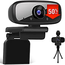 LarmTek Computer Camera with Privacy Shutter,PC Camera with Microphone,USB Webcam Stereo Audio Support Recording and Video Calling,Mini Plug and Play for Conference,W2 Pro,US