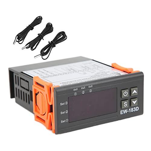 Controlador De Temperatura Digital Termostato Reptil Durable Exquisito Acuario Calentamiento De 3 Vías Thermost