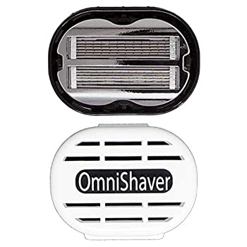 Premium Omnishaver with White Travel Case - The Fastest Way to Shave Head Legs Arms Body | an Alternative to Disposable Shaving Razors Self Cleans & Strops During Use | Bald Head Shaver for Men