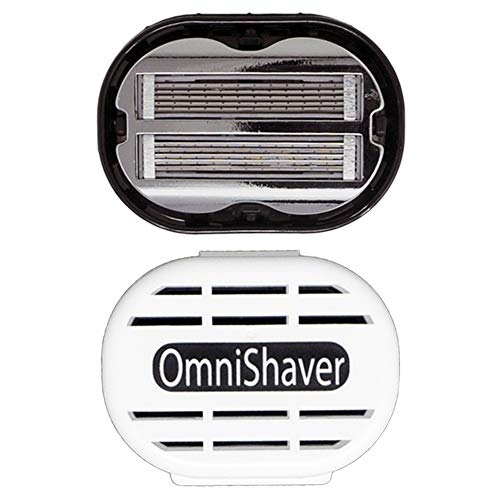 Premium OmniShaver with Travel Case, The Fastest Way to Shave your Head, Legs, Arms, Body | Shaving Razor Self Cleans and Strops During Use, Durable Blades Head Shaver for Bald Men, Hair Cutter