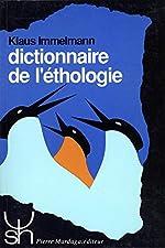 Dictionnaire de l'éthologie d'Immelmann