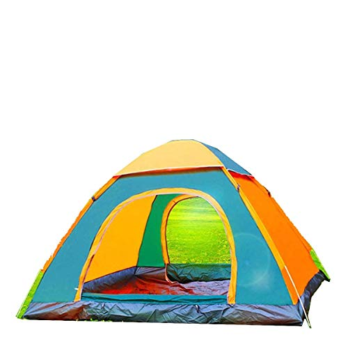 Without Pop-up tent camping tent waterproof tent 1~4 Person Automatic Pop Up Outdoor Family Camping Tent Easy Open Camp Tents Ultralight Instant Shade Portable Free Construction (Color : Orange)