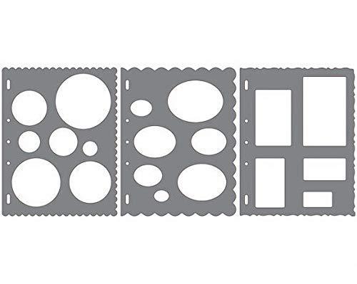 Fiskars ShapeCutter Gabarits de découpe, 3 Gabarits différents, 1003880