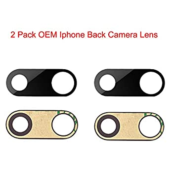 2 Pcak Afeax Compatible OEM Original Back Rear Camera Lens Glass Replacement for iPhone 7 Plus and iPhone 8 Plus  5.5 inch  with Adhesive Glue