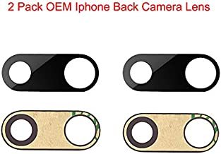 2 Pcak Afeax Compatible OEM Original Back Rear Camera Lens Glass Replacement for iPhone 7 Plus and iPhone 8 Plus (5.5 inch) with Adhesive Glue