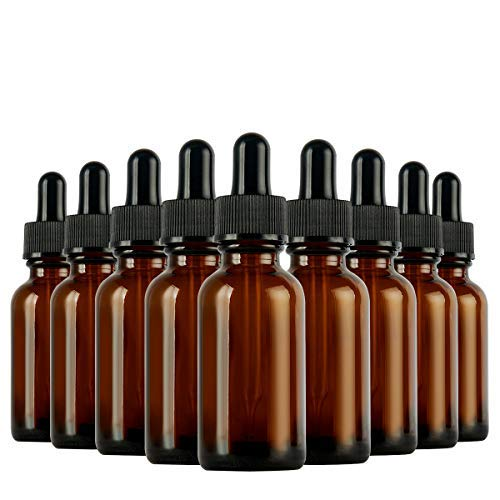 Eye Dropper Bottle, Hoa Kinh 24 Pack 2 oz 60ml Amber Glass Dropper Bottle with Droppers, 2 Funnels for Essential Oils, Perfumes, Colognes