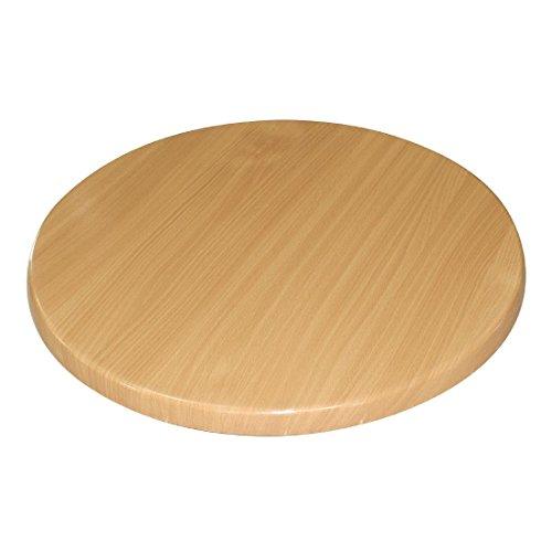 Bolero GL975redondo tablero de la mesa, 800mm, madera de haya