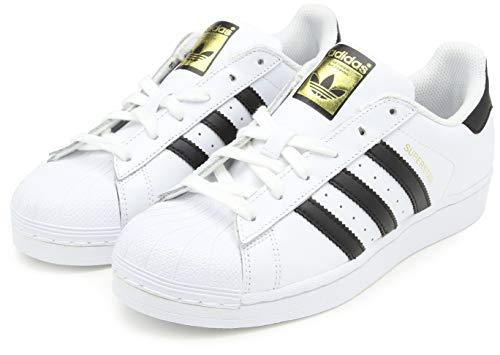 adidas Originals Kids' Superstar Foundation EL C Sneaker, White/Black/White, 3 M US Little Kid