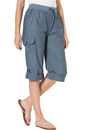 Woman Within Plus Size Convertible-Length Cotton Cargo Capri Pants