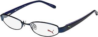 Puma 15357 Pico للرجال/النساء Cat Eye Spring مفصلات مثالية TIGHT-FIT مصممة لأنماط الحياة النشطة إطار النظارات / النظارات