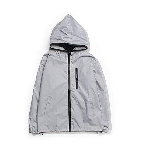 Reflecterende jas voor heren en dames, outdoor, reflecterend jack, nachtsport, waterdicht, reflecterend jack, modieus, hip hop, windjack voor fietsen, hardlopen
