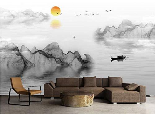 Fototapete Landschaftsmalerei 150x105 cm Vlies Premium Kunstdruck Fleece Wandbild Dekoration Poster Bild Design Moderne Naturlandschaft