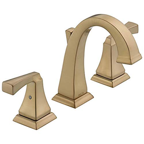 Delta 3551-CZMPU-DST Dryden Two Handle Bathroom Widespread Faucet, Champagne Bronze
