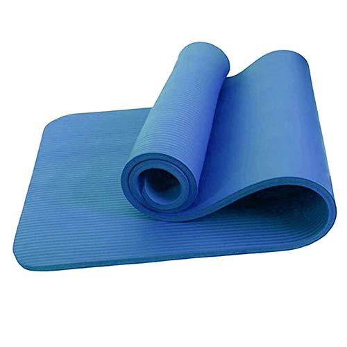 EIIDJFF Esterillas Yoga Antideslizante El Material es Resistente a la lágrima, la Textura es Clara y Antideslizante y la Textura es Suave y Delicada (Color : Blue)