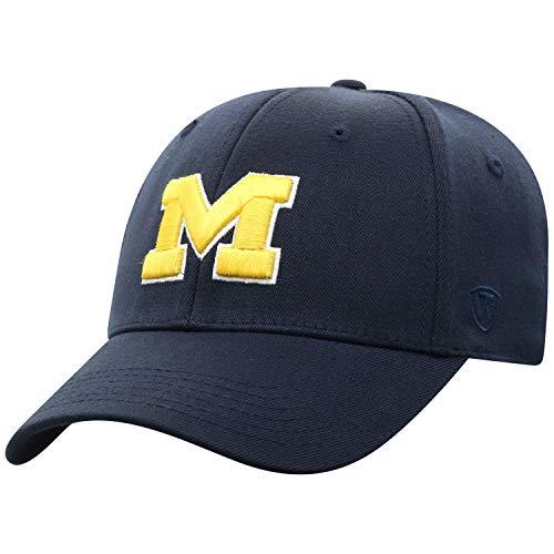 Top of the World Michigan Wolverines Cap-Officially Licensed by NCAA, Memory, Wool-Adult, M/L, One Size Fits Most Schildmütze – offiziell lizensiert, Wollmischung – Erwachsener, Einheitsgröße, Navy