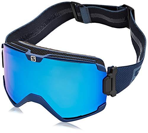 Salomon, COSMIC BOLD, Máscara de esquí Unisex, Ajuste Medio-Grande, Azul Universal Mid Blue, L41146300