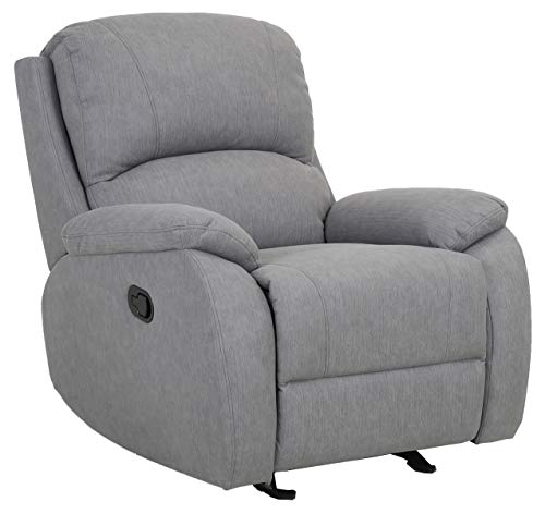 Amazon Brand – Ravenna Home Oakesdale Contemporary Glider Recliner, 35.4'W, Grey