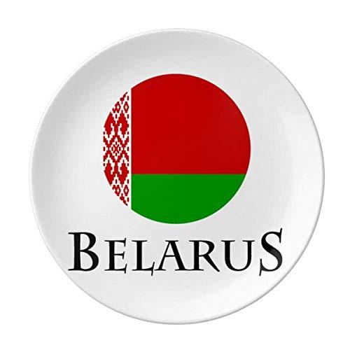 Belarus Osteuropäische Minsk-Flagge Teller dekoratives Porzellan Salver Geschirr Abendessen Teller