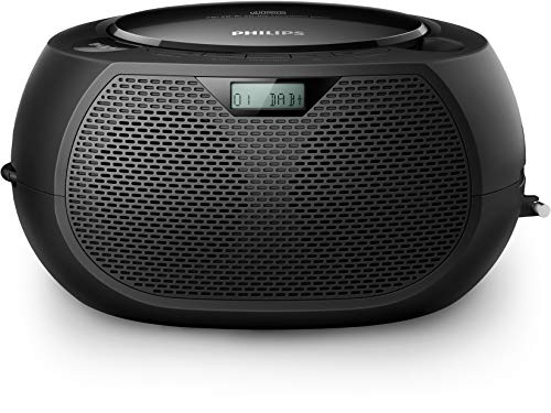 Philips Soundmachine AZB200/12 CD Soundmachine (DAB+, CD-weergave, 3,5 mm audio-ingang, shuffle/repeat-functie, titelprogrammering) zwart