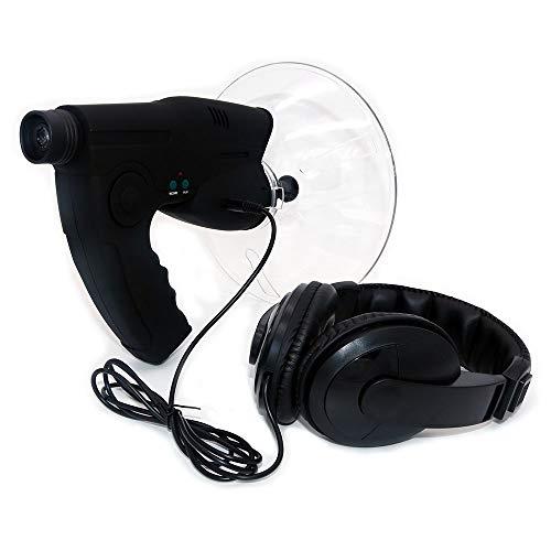 Micrófono direccional de Plato parabólico NUZAMAS, monocular X8 Veces de Larga Distancia para oídos, telescopio para Escuchar Aves, Caminar en Bush, Caza, Pesca, Herramientas de Camping