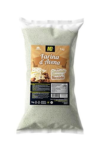 MG Food Farina di Avena Aromatizzata al gusto Cioccolato Bianco e Nocciola - 1kg