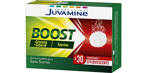 Juvamine - BOOST Ginseng Taurine, 30 Comprimés Effervescents
