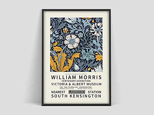 Póster de William Morris, póster de exposición de William Morris, estampado de flores, póster floral, impresión artística, decoración sin marco para el hogar, P 70x100cm