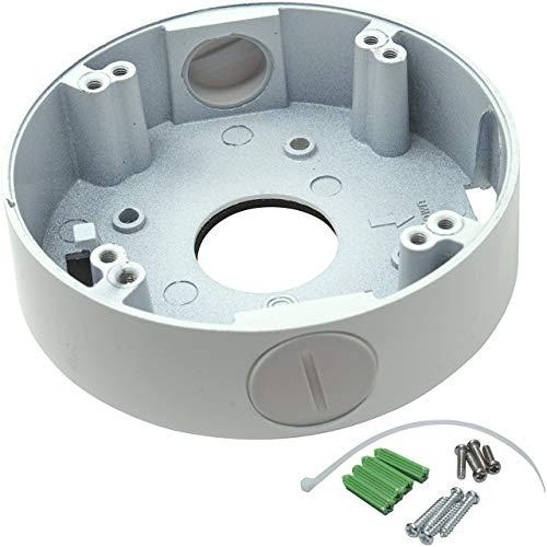 Kenuco White 4.75' Camera Base Junction Outlet Box for Adjustable Lens Eyeball Turret Dome CCTV Security Cameras