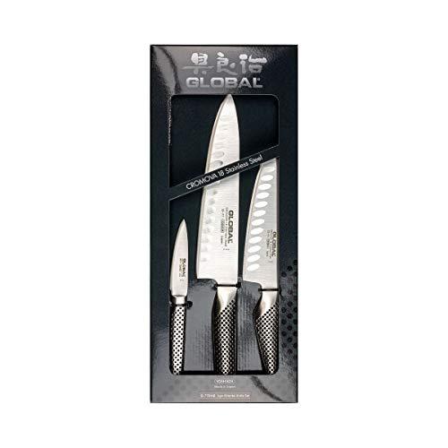 Global Cromova 18 Messer-Set, Edelstahl,...