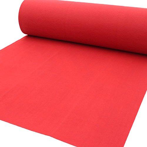 ANHPI Extérieur Tapis De Mariage Jetable PVC Brillant Solide Tapis Régional épaisseur: 3mm,Red-Length10m*Width1m