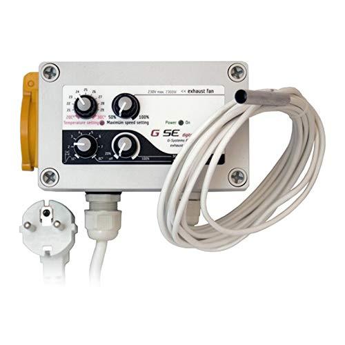GSE Controller Temperatur Max Min & Drehzahl 10 A - Ventilator Lüftersteuerung Lüfter Rohrlüfter Motor Grow Anbau Indoor