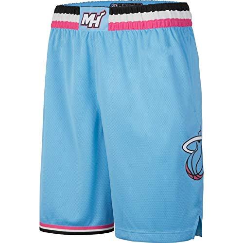 ZJFSL Maglia NBA Uomo Miami Heat # 3 Pantaloncini da Basket Wade Pantaloncini Sportivi Traspiranti ad Alta Elasticità ad Asciugatura Rapida